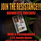 ZOMBIE HUNTER  Military style CAC Personalized ID