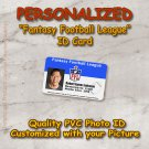 Personalized Fantasy Football League Quality  PVC Photo Id