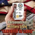 "Personalized Customized ""American Taxpayer"" Military STYLE CAC ID Card"