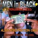 "Men in Black ""Alien Registration Card"" Personalized Movie Prop Replica"