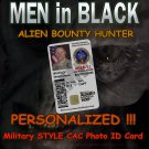 Men in Black Style AREA-51 Personalized Alien Bounty Hunter Military Type CAC ID