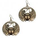 Scarab Beatle and eye of Ra earrings