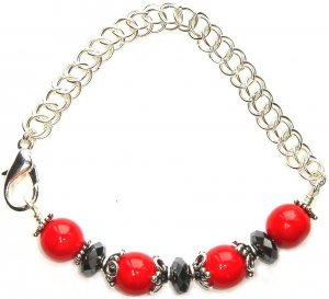 Red Cherry Half Bangle