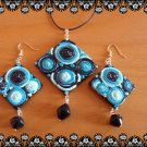 Pendant & earrings matching set