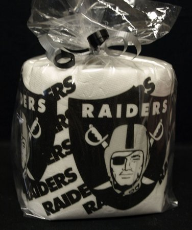 Oakland Raiders Heat Pressed Toilet Paper