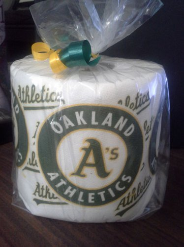 Oakland A's Heat Pressed Toilet Paper