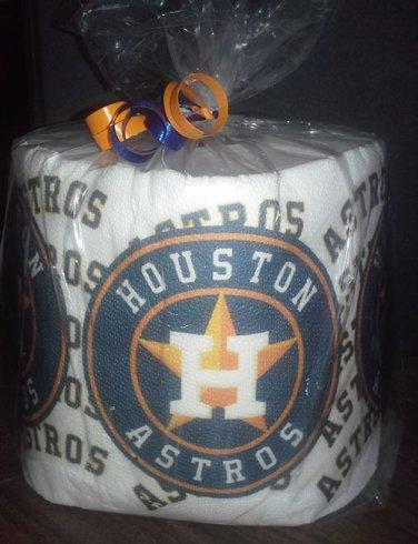 Houston Astros Heat Pressed Toilet Paper