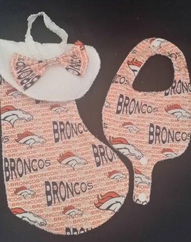 Denver Broncos Baby Burp Cloth & Bib Set