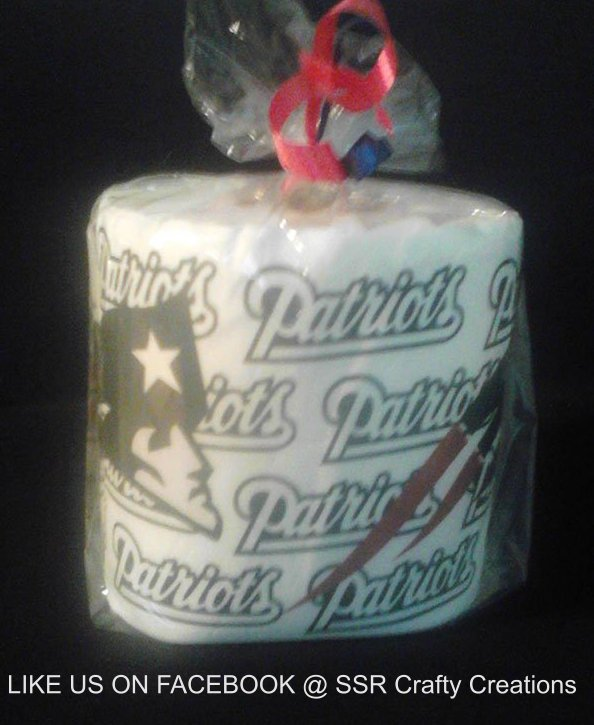 New England Patroits Heat Pressed Toilet Paper