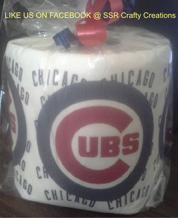 Chicago Cubs Heat Pressed Toilet Paper