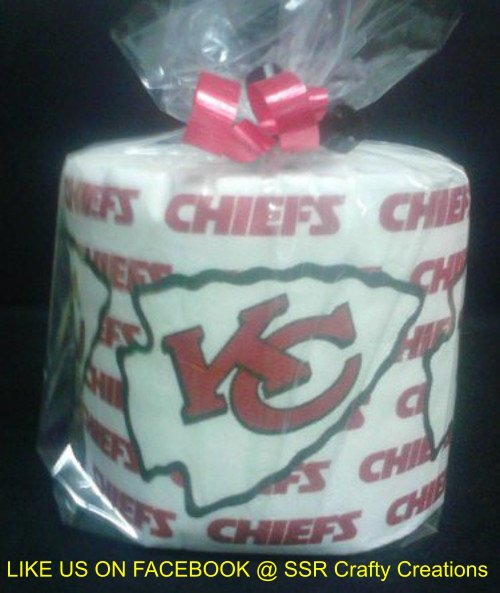 Kansas City Chiefs Heat Pressed Toilet Paper