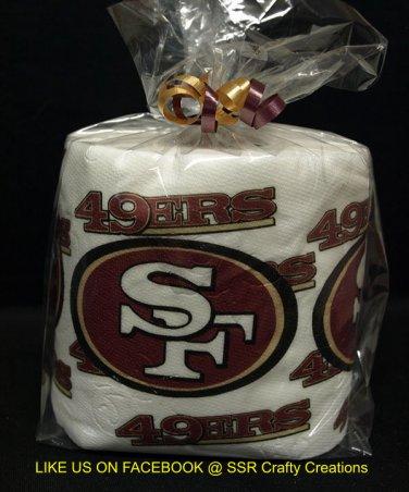 SF 49ers Heat Pressed Toilet Paper