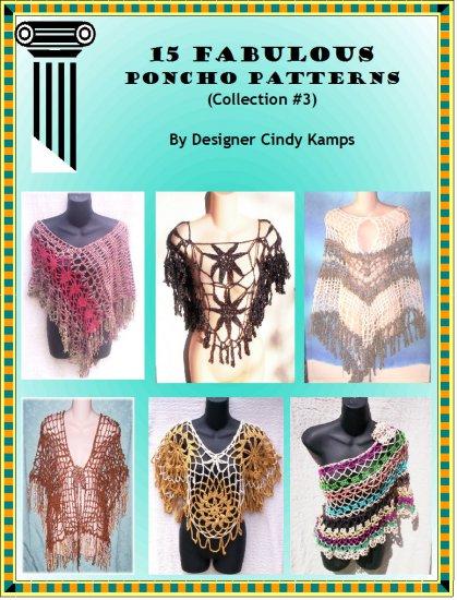 15 Fabulous Poncho Patterns EBook By Designer Cindy Kamps