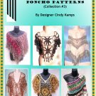 15 Fabulous Poncho Patterns EBook By Designer Cindy Kamps