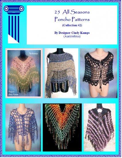 25 Poncho Patterns EBook #2 Crochet Patterns by Cindy Kamps