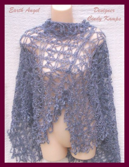 Earth Angel Asymmetrical Poncho Pattern by Designer Cindy Kamps