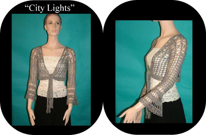 City Lights Long Sleeve Shrug Pattern