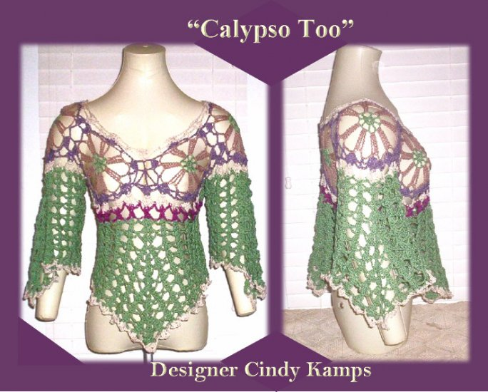 CALYPSO TOO Asymmetrical Crochet TOP Pattern