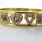 18KT YELLOW GOLD DIAMOND LOVE BRACELET MAYOR'S JEWELRY PRECIOUS STONE BANGLE