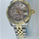 LADIES ROLEX DATEJUST MOTHER OF PEARL DIAMOND DIAL STAINLESS STEEL WATCH 179313