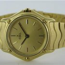 18KT YELLOW GOLD LADIES EBEL WATCH WITH CLASSIC WAVE DESIGN