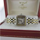 LADIES CARTIER 1120 LE MUST STAINLESS STEEL+ 18KT GOLD  WATCH WITH ORIGINAL BOX