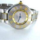LADIES MUST DE CARTIER 21 TWO TONE STAINLESS STEEL & 18KT YELLOW GOLD WATCH