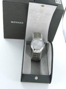 MOVADO SPORT EDITION SILVER DIAL SE STEEL SWISS MADE MEN RETAIL $1195 BOX +PAPER