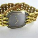 RADO 18K YELLOW GOLD WATCH WATERSEALED BLACK DIAL DIAMOND WRISTWATCH LUXURY