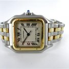 CARTIER PANTHERE 2TONE SS & 18KT YELLOW GOLD WATCH