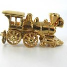14KT KARAT YELLOW GOLD PENDANT CHARM 3.7DWT TRAIN VEHICLE VINTAGE MOBILE WHEELS