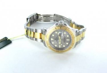 ROLEX WATCH YACHT MASTER 18KT GOLD  STAINLESS STEEL TWO TONE 16623 BOX & PAPERS