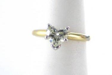 WEDDING RING BAND 1 DIAMOND 14KT SOLID KARAT GOLD ENGAGEMENT HEART LOVE JEWELRY