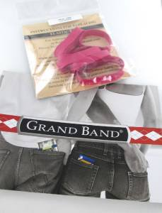 GRAND BAND MONEY CLIP 6 ELASTIC BAND REPLACEMENT PART PINK NEW