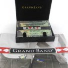 GRAND BAND MONEY CLIP STAINLESS STEEL RED & BLACK CARD SUIT EXTRA BANDS POKER