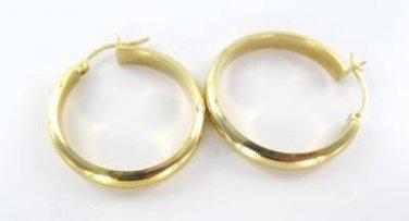 14KT KARAT YELLOW SOLID GOLD EARRINGS HOOP FINE JEWELRY 2.7 GRAMS ACCESSORIES