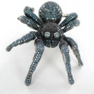 10KT WHITE GOLD HAIMOV DAMON DASH TARANTULA SPIDER PENDANT BLUE BLACK DIAMONDS
