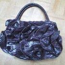 SR SQUARED BY SONDRA ROBERTS Purple Ruffled Small Handbag purse bag ruffle urban