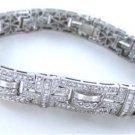18KT WHITE GOLD BRACELET 490 DIAMONDS 8.50 CARAT BANGLE 48.3 GRAMS FINE JEWELRY