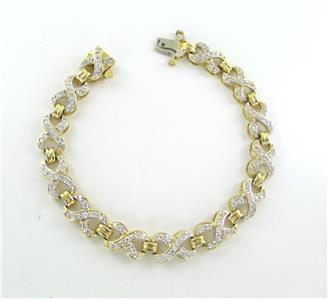 14K YELLOW GOLD BRACELET 169 DIAMONDS 3.50 CARAT FINE JEWELRY 19 GRAMS NO SCRAP