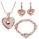 18KS042 18K Gold Plated Sets Nickel Free K Golden Plating Platinum Rhinestone