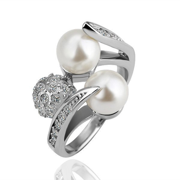 18KGP R085 Ball Ring FreeshippingCopper with 18K Platinum Platedrings Ring size 6/7/8
