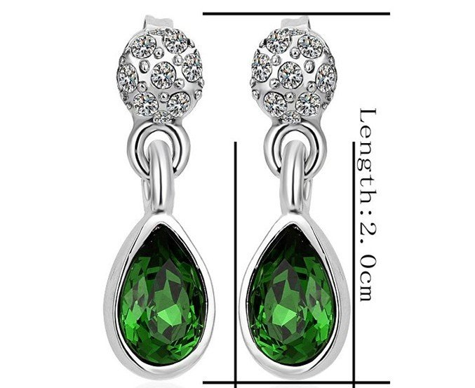 18KGP E222 18K Platinum Plated Earrings Nickel Free K Golden Jewelry Plating Platinum