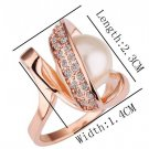 18KGP R160 18K Gold Plated Ring Nickel Free K Golden Plating Rize size6/7/8