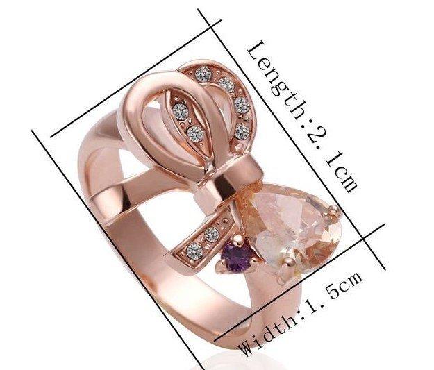 18KGP R238 18K Platinum Plated Ring Nickel Free K Golden Plating Platinum Ring size 8