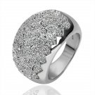 18KGP R129 Crystal 18K Platinum Plated Ring,Nickel Free K Golden Plating Platinum,Ring US-size 8