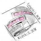 18KGP R198 18K Platinum Plated Ring Nickel Free K Golden Plating Platinum,Ring US-size 8