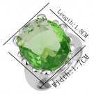 18KGP R159 Green Crystal 18K Platinum Plated Ring Nickel Free  Rhinestone,Ring US-size 8