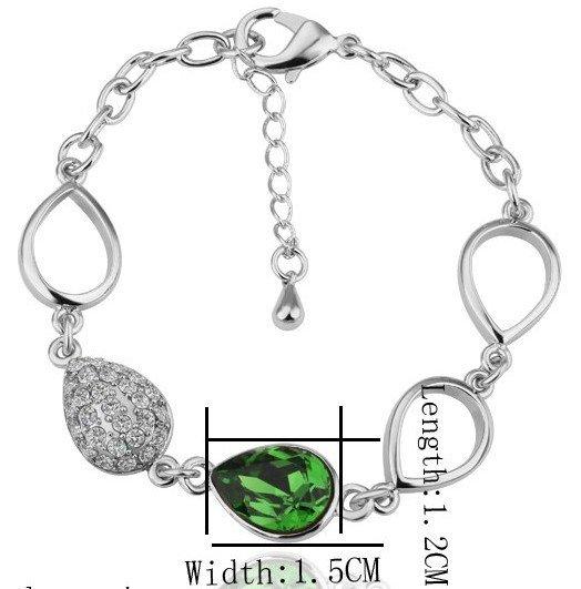 18KGP B027 18K Plated Ring Nickel Free K Golden Plating Platinum Rhinestone SWA Element