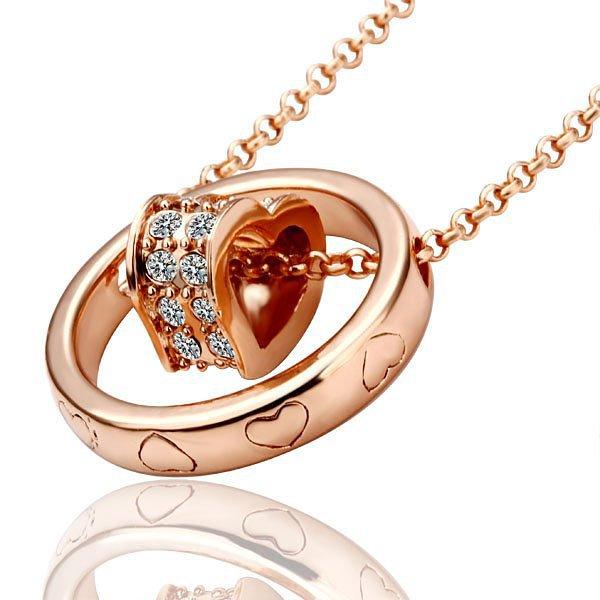 18KGP N028 N462 18K Gold Plated Necklace Nickel Free Rhinestone Crystal Pendant SWA- Elements